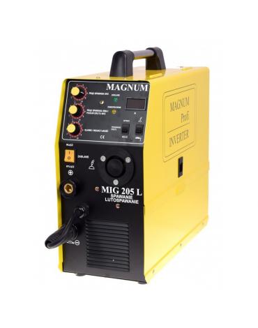 MAGNUM MIG 205L LUTOSPAWANIE Profesjonalny półautomat spawalniczy