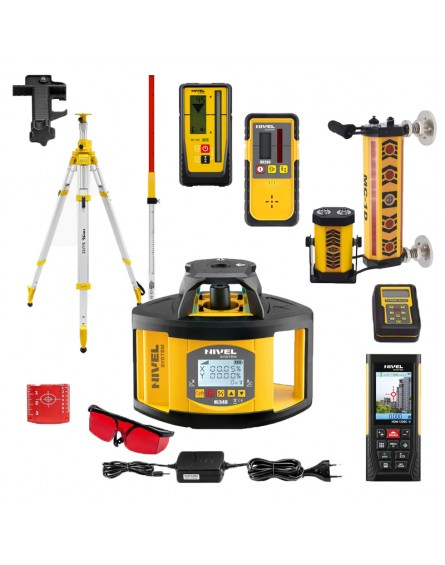 Nivel System NL540 Digital Niwelator obrotowy + Laserowy system kontroli pracy maszyn budowlanych