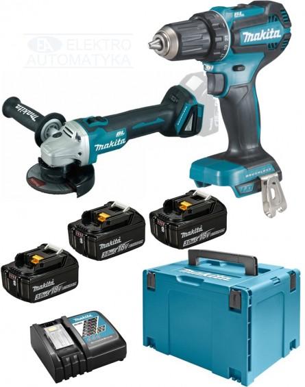 Makita DLX2284J1 Zestaw urządzeń 18V COMBO Wkrętarka akumulatorowa, szlifierka akumulatorowa 3x3AH